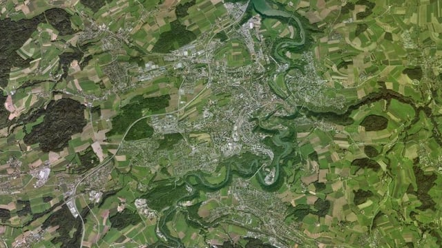 Google-Karte von Freiburg.