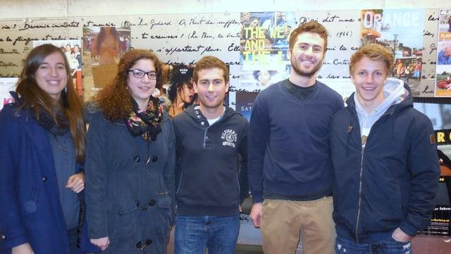 Gruppenfoto der Gymnasiasten.