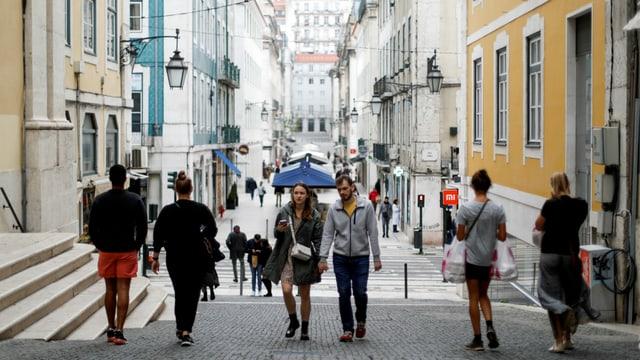 Touristen in Lissabon