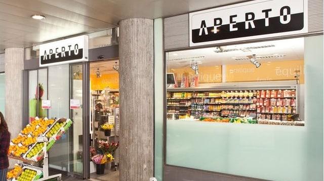 Der Aperto-Shop im Bahnhof Freiburg.