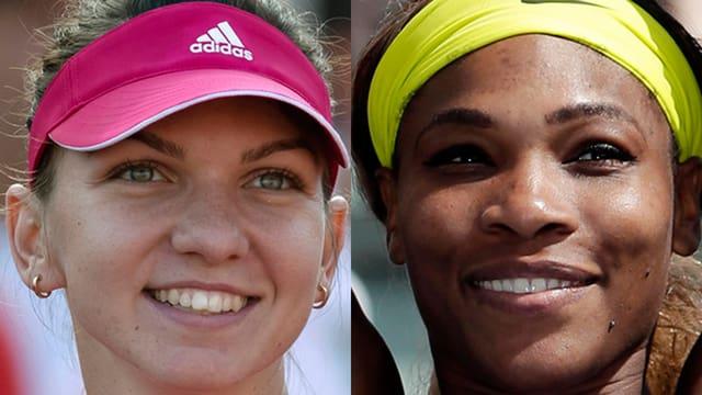 Simona Halep und Serena Williams