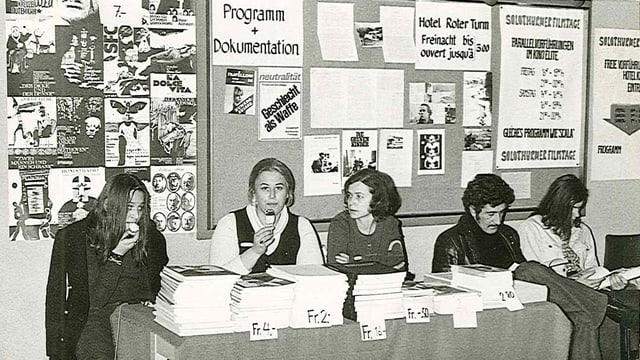 1972: Impressionen von den 7. Solothurner Filmtagen.