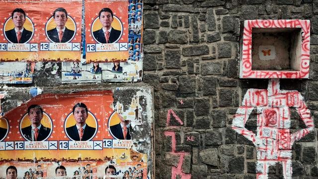 Wahlplakate in Antanarivo, Madagaskar.