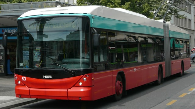 Ein Bus der Verkehrsbetriebe Biel