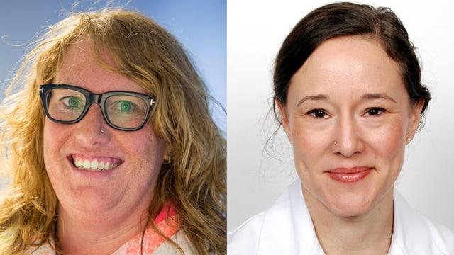 Hebamme Caroline Eith und Dr. Jutta Harder