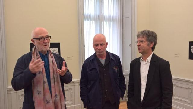 (da sanestra): Architect Peter Zumthor, fotograf Florio Puenter e co-directur Stephan Kunz