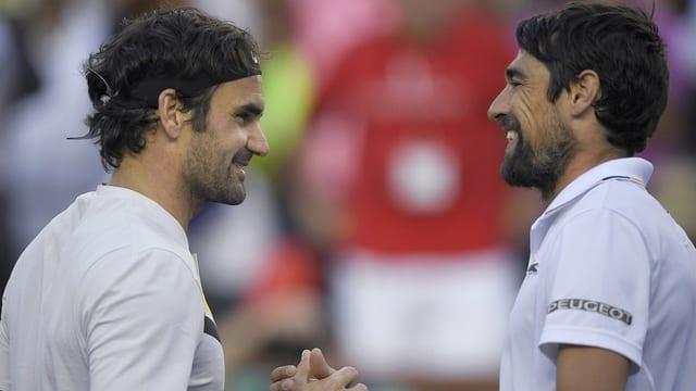 Roger Federer und Jérémy Chardy.
