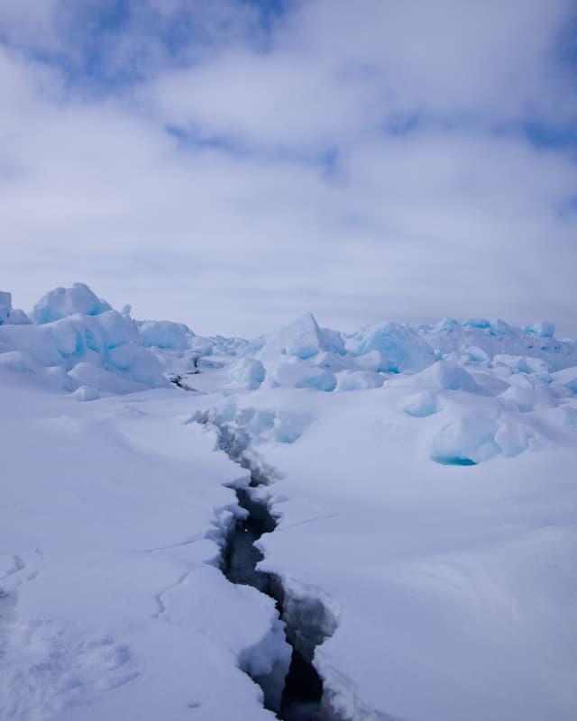 Der Riss durchs Eis.
