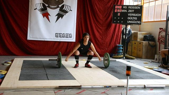 Anna Hagmann, Gewichtheberin aus Basel.
