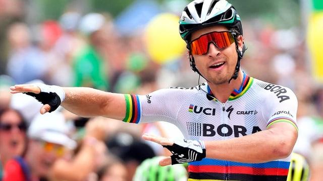 Peter Sagan gudogna sia 14avla etappa al Tour de Suisse.