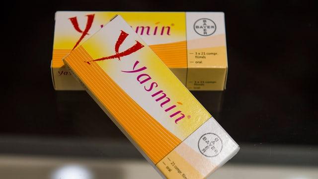 Zwei Packungen der Pille Yasmin.