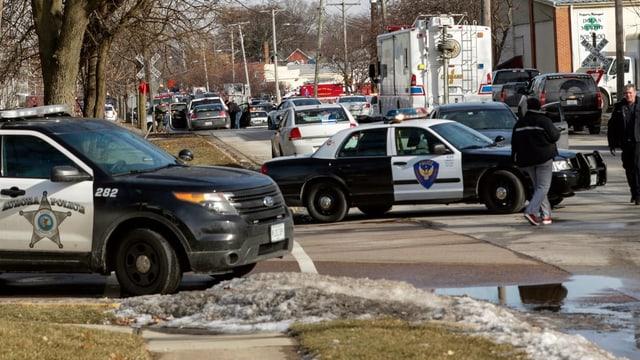 Polizeiwagen auf einer Strasse