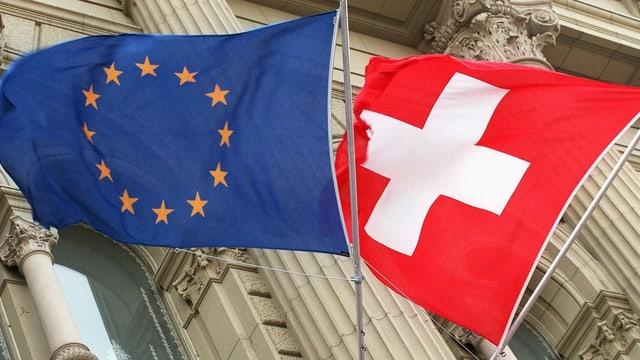 Flaggen am Bundeshaus