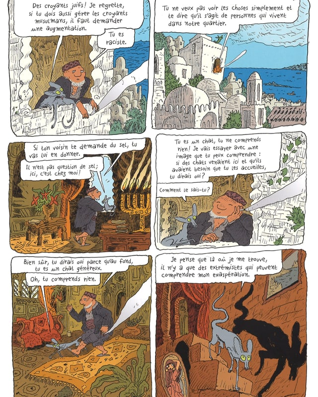 Eine Szene aus «Le Chat du Rabbin».