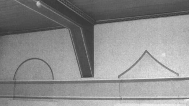 Wand und Decke der Halle