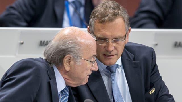 Blatter e Valcke.