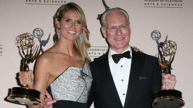 Heidi Klum gewinnt mit ihrem Co-Moderator Tim Gunn einen «Emmy»
