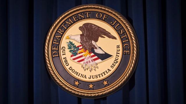 Amtliches Siegel des US-Justizdepartements (DOJ)
