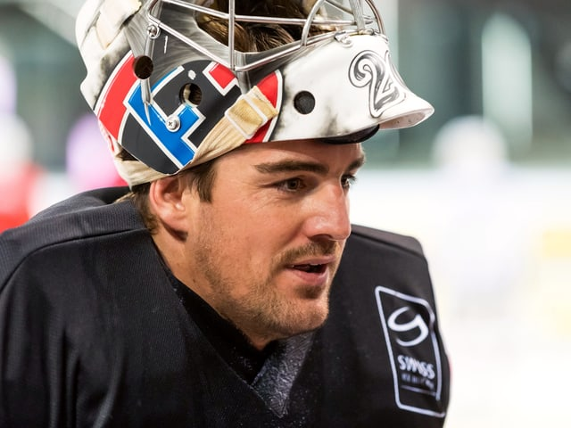 Reto Berra im Training.