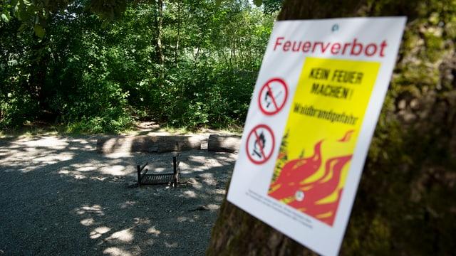 Plakat zum Feuerverbot