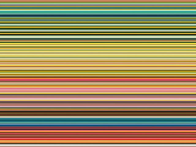 Ein digitaler Druck. Mit mehreren farbigen Streifen.