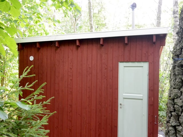 Ein Saunahaus in Schweden.