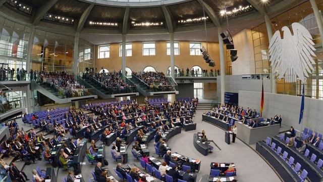 Plenarsaal des Bundestag