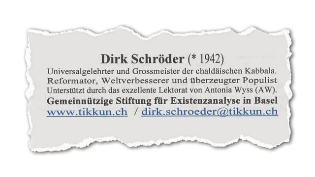 Angaben zu Dirk Schröder