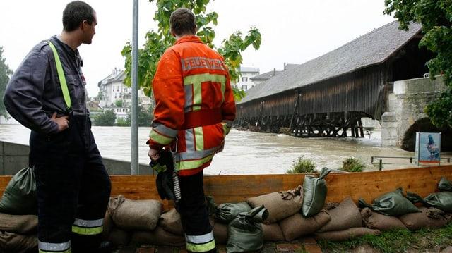 Hochwasser in Olten.