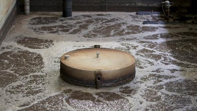 Abwasser in einer Reinigungsanlage.