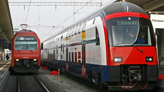 Dus trens da las Viafiers federalas svizras