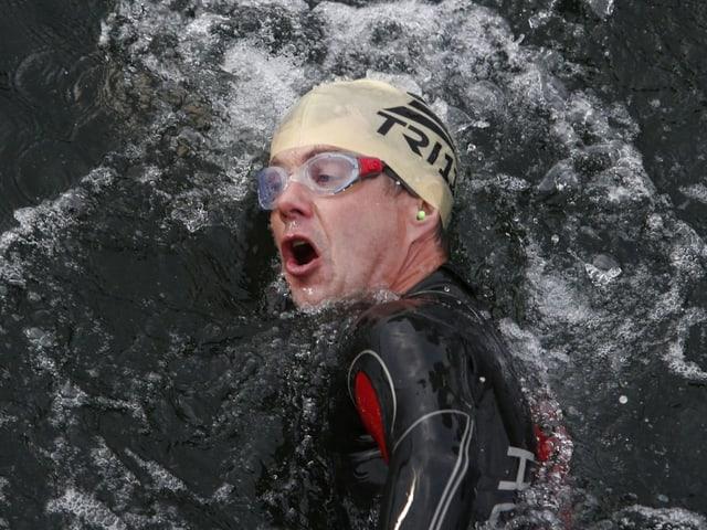 Kronprinz Frederik am schwimmen