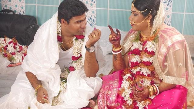 Bengalische Hochzeit in Kolkata.