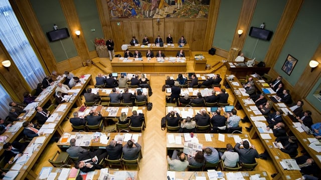 Bild des Walliser Kantonsparlaments.