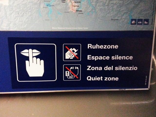Kein Handy, keine Musik und keine Gespräche. Wer sich in der Ruhezone befindet muss sich an diese Regeln halten.