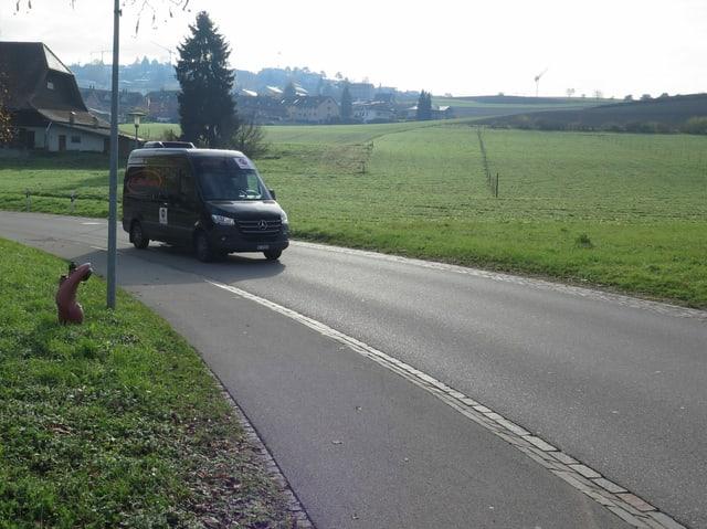 Der Bus ist unterwegs.