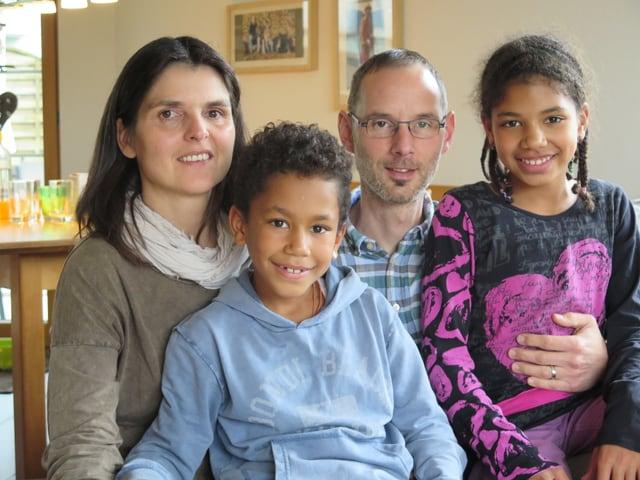 Porträt einer Pflegefamilie