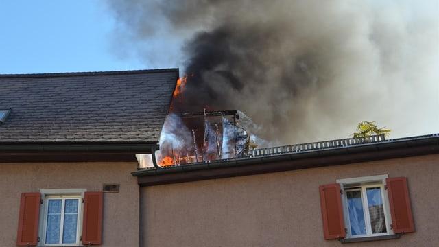 Feuer Haus Brand