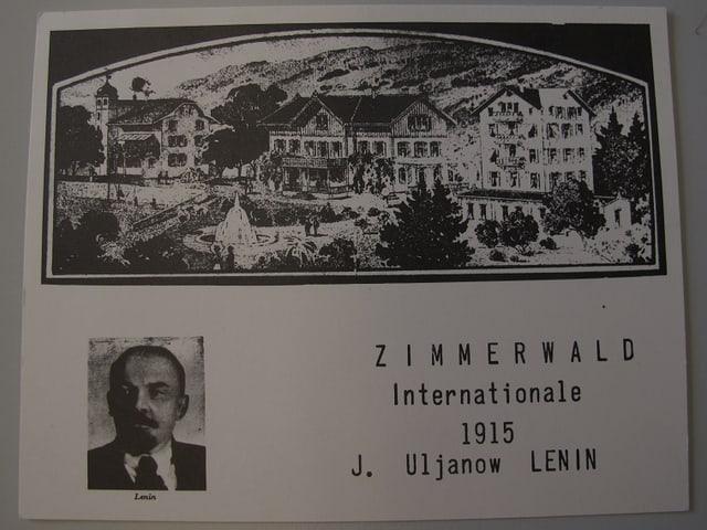 Postkarte zur Zimmerwald-Konferenz von 1915