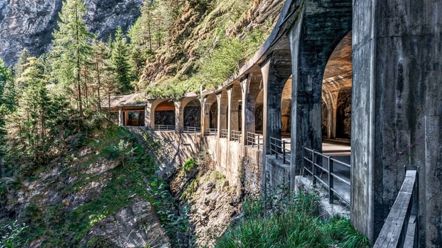 Gallaria Viamala 1, gallaria da lain Viamala.