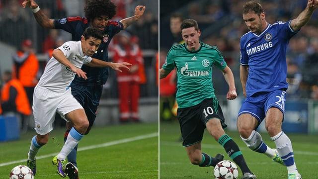 Bayern und City sowie Chelsea und Schalke trafen schon vor einem Jahr in der Gruppenphase aufeinander.
