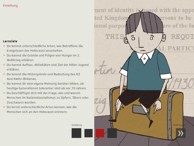 Screenshot vom iBook mit den Lernzielen aus der Einleitung.