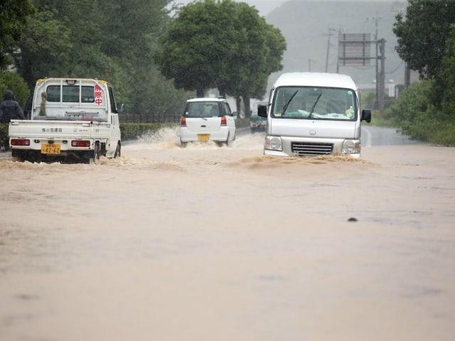 Überschwemmte Strasse