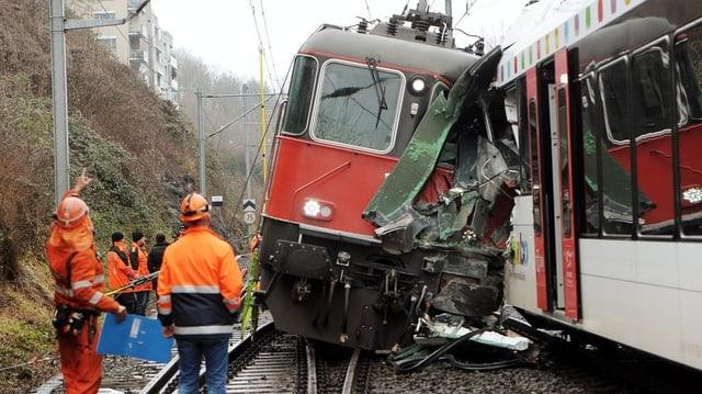 Eines der dramatischen Ereignisse 2013: Das Zugsunglück von Neuhausen.