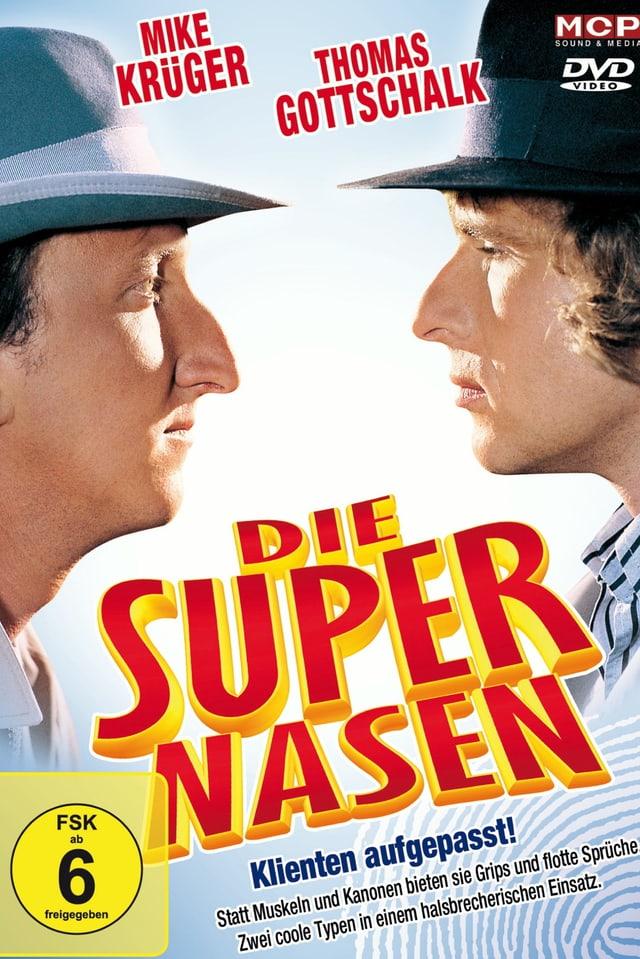Kinoplakatdes Kinofilms. Krüger und Gottschalk betrachten gegenseitig ihre grossen Nasen.
