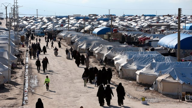 Zeltlager in der Wüste.