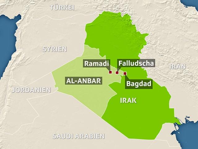 Karte Irak