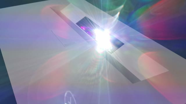 Magisches Laserlicht aus der Projektor-Spalte.