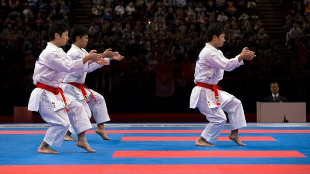 Karatekämpfer in Aktion.