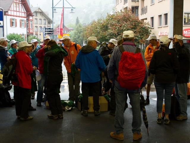 Gruppenbild der Wandercrew.